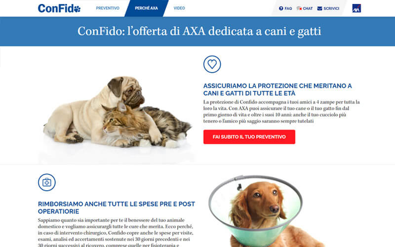 Assicurazione Cane ConFido di AXA